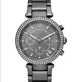 Michael Kors Accessories | Michael Kors Parker Gunmetal Watch | Color: Gray/Silver | Size: 39 Mm
