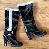 Michael Kors Shoes   Nwt   Michael Kors Derby P. Leather Boots - Sz 5.5   Color: Black/White   Size: 5.5