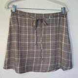 American Eagle Outfitters Skirts   American Eagle Brown Plaid High Waist Mini Skirt-8   Color: Brown/Cream   Size: 8
