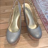 Nine West Shoes   Nine West Tall Sling Back Cork Wedges   Color: Gold/Tan   Size: 7.5