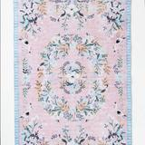 Anthropologie Accents | Loloi Rifle Paper Co. Palaus Rug Rosesky | Color: Blue/Pink | Size: 5x7.6
