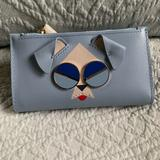 Kate Spade Bags | Kate Spade Spademals Mod Dog Leather Bifold Wallet | Color: Blue | Size: Os