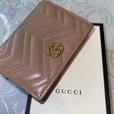 Gucci Accessories | Gucci Gg Marmont Card Case Wallet | Color: Gold/Pink | Size: Os