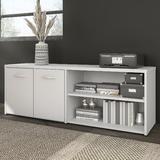 Bush Business Furniture Hybrid 2 - Shelf Credenza Wood in Brown, Size 21.0 H x 59.0 W x 16.0 D in | Wayfair HYS160BW-Z