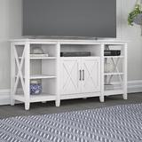 """Bush Furniture Key West TV Stand for TVs up to 65"""" Wood in Brown/White, Size 30.0 H in 