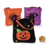 Oriental Trading Company Large Halloween Felt Tote Bags - Halloween - Totes - 6 Pieces | Wayfair 13808420