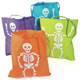 Oriental Trading Company Large Neon Skeleton Tote Bags - Halloween - Totes - 12 Pieces | Wayfair 13744416