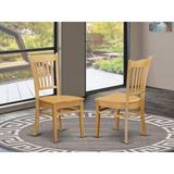 Gracie Oaks East West Furniture Groton Dining Chairs Set Of 2 - Hardwood Seat & Black Solid Wood Frame Kitchen Chairs | Wayfair
