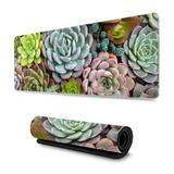 Bungalow Rose Ink Marble Art Painting Gaming Mouse Pad, Long Extended XL Mousepad Desk Pad, Large Non-Slip Rubber Mice Pads Stitched Edges | Wayfair