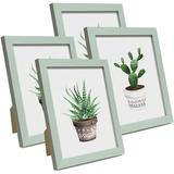 """Latitude Run® 8"""" X 10"""" Wood Single Picture Frame Set in Pink/Wood in Green, Size 10.0 H x 8.0 W x 0.6 D in 