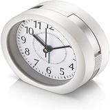 Latitude Run® Analog Alarm Clock, 4 Inch Super Silent Non Ticking Small Clock w/ Snooze & Night Light, Battery Operated Travel Alarm Clock | Wayfair