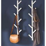 Corrigan Studio® Coat Rack & Hat Rack – Modern Design – Wall Mounted – Stylish Metal in White, Size 39.0 H x 10.5 W x 5.25 D in | Wayfair