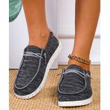 YASIRUN Women's Boat Shoes Black - Black Lace-Accent Boat Shoes - Women