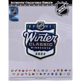 """Minnesota Wild vs. St. Louis Blues Unsigned 2022 NHL Winter Classic National Emblem Jersey Patch"""