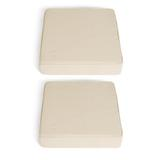 Tate Accent Chair Cushions, Set Of 2 - Ivory - Grandin Road