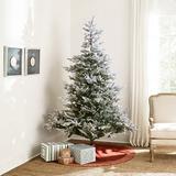 Prelit Flocked Grandis Fir 7' Tree - Ballard Designs