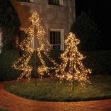 "LED Twinkle Metal Staked Tree 79"" - Ballard Designs"