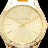 Michael Kors Accessories | Mk Ladies Champagne Runway Watch Mk3179 | Color: Gold | Size: Os