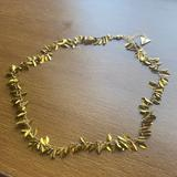 Anthropologie Jewelry | Nwot Anthropologie Leaf Greek Choker Necklace | Color: Gold | Size: Os