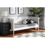 Baxton Studio Daniella Modern and Contemporary White Finished Wood Daybed - Wholesale Interiors MG0076-White-Daybed