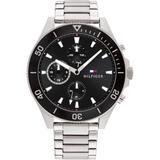 Stainless Steel Bracelet Watch 46mm - Metallic - Tommy Hilfiger Watches