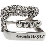 Silver Pavé Single Ear Cuff - Metallic - Alexander McQueen Earrings