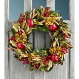 Wreath With Faux Pomegranate And Berries