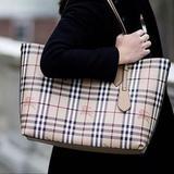 Burberry Bags | Burberry Medium Reversible Haymarket Tote Bag | Color: Cream | Size: 14.5l X 5.5w X 11.5h