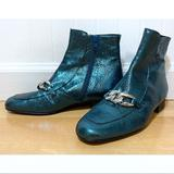 Free People Shoes | Free People Emerald City Loafer Ankle Boots | Color: Blue/Green | Size: 6.5