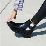 Free People Shoes   Free People X Fr   Nappa Vegan Leather Moto Boot   Color: Black/White   Size: 9
