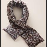 Anthropologie Accessories | Anthropologie Velvet Floral Print Puffer Scarf | Color: Black/Gray | Size: 46 L , 7 W