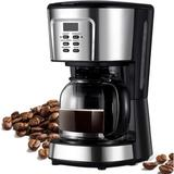 Collins Home Inc Automatic Drip Latte Coffee Machine Mountable Small Mini Electric Coffee Maker 900w in Black/Gray, Size 12.4 H x 6.7 W x 7.9 D in