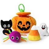 Bunny Chorus My First Halloween Pumpkin Toys Playset, 5Ct Stuffed Pumpkin Plush Cat Spider Ghost Candy Corn For Baby Girls Boys   Wayfair X0593_IV