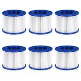 City Elves 6 Pack Pool Filter For Hot Tub & Pool in Blue/White, Size 3.0 H x 4.0 W x 4.0 D in   Wayfair 76984325
