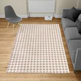 East Urban Home Ambesonne Tribal Turkish Area Rug, Oriental Style Ornamental Pattern Patchwork Inspired Look Repetitive Art in Blue/White   Wayfair