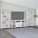 """Bush Furniture Key West Entertainment Center for TVs up to 65"""" Wood in Brown/White 