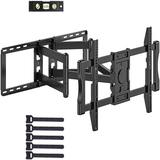 Furnimics Tv Wall Mount Bracket Full Motion Swivel Articulating For Most 37 - 90 Inch Oled Qled Lcd in Black, Size 11.42 H x 32.28 W x 29.07 D in
