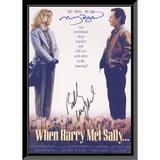 Dream on Ventures When Harry Met Sally Meg Ryan & Billy Crystal Signed Movie Poster, Size 24.0 H x 36.0 W x 2.0 D in | Wayfair TJ344