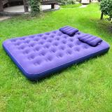 Alwyn Home Camping Air Mattress Inflatable Bed, Blow Up Mattress Lightweight Sleeping Pad Designed For Backpacking Queen Size in Blue   Wayfair