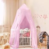Isabelle & Max™ Yggdrasil Elegant Polyester Hook & Loop Fastener Bed Canopy Polyester in Pink, Size 11.41 H x 9.44 W x 1.96 D in   Wayfair