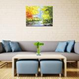 Red Barrel Studio® Landscape Oil Paintings Original Art Tree Pictures For Living Room Wall Canvas Paintings in Brown | Wayfair