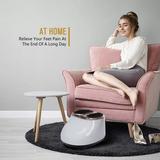 Inbox Zero Foot Massager Machine Electric Remote Shiatsu Kneading Machine Calf Leg Relief in White, Size 9.06 H x 13.78 W x 16.54 D in | Wayfair