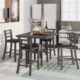 Red Barrel Studio® Dining Set Wood/Upholstered Chairs in Gray, Size 36.2 H in   Wayfair 30D3B4271F0B4A94926B9AAC29A87078