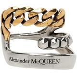 Silver & Gold Punk Chain Single Ear Cuff - Metallic - Alexander McQueen Earrings