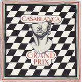 Black & White Silk Statue Grand Prix Scarf - Black - CASABLANCA Scarves
