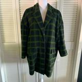 Madewell Jackets & Coats   Madewell Womens Oversized City Check Print Coat   Color: Black/Green   Size: M