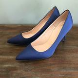 J. Crew Shoes   J.Crew $278 Elsie Pumps Satin Glitter Sole Ae847   Color: Blue/Silver   Size: 7