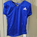 Adidas Shirts & Tops | New Adidas Practice Football Training Blue Jersey Shirt Kids L | Color: Blue/White | Size: Lb