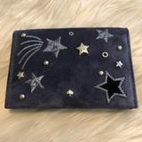 Kate Spade Accessories | Kate Spade Leather Suede Card Case Wallet | Color: Black/Blue | Size: Os