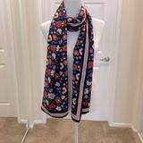 Kate Spade Accessories | Kate Spade Floral Pattern Silk Scarf | Color: Blue/Pink | Size: Os